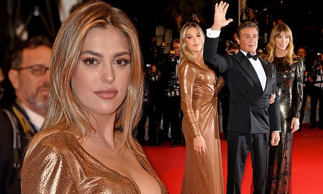 Sylvester Stallone's daughter Sistine and wife support the actor