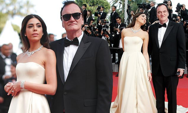 Quentin Tarantino's wife Daniella Pick cosies up to director at Cannes