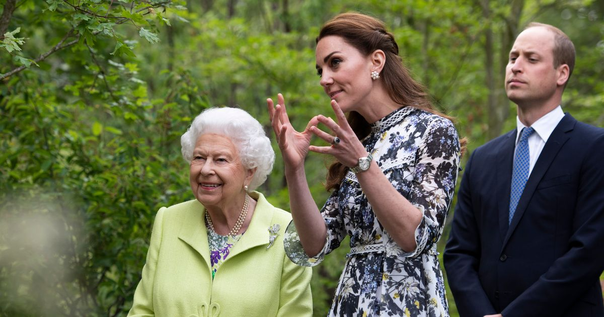 Kate Middleton stuns in floral Erdem dress as she proudly shows The Queen her garden at Chelsea Flower Show