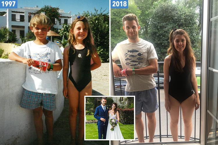 The husband I met at uni turned out to be the boy I met on holiday when I was six… and we only realised when my mum sent us an old snap