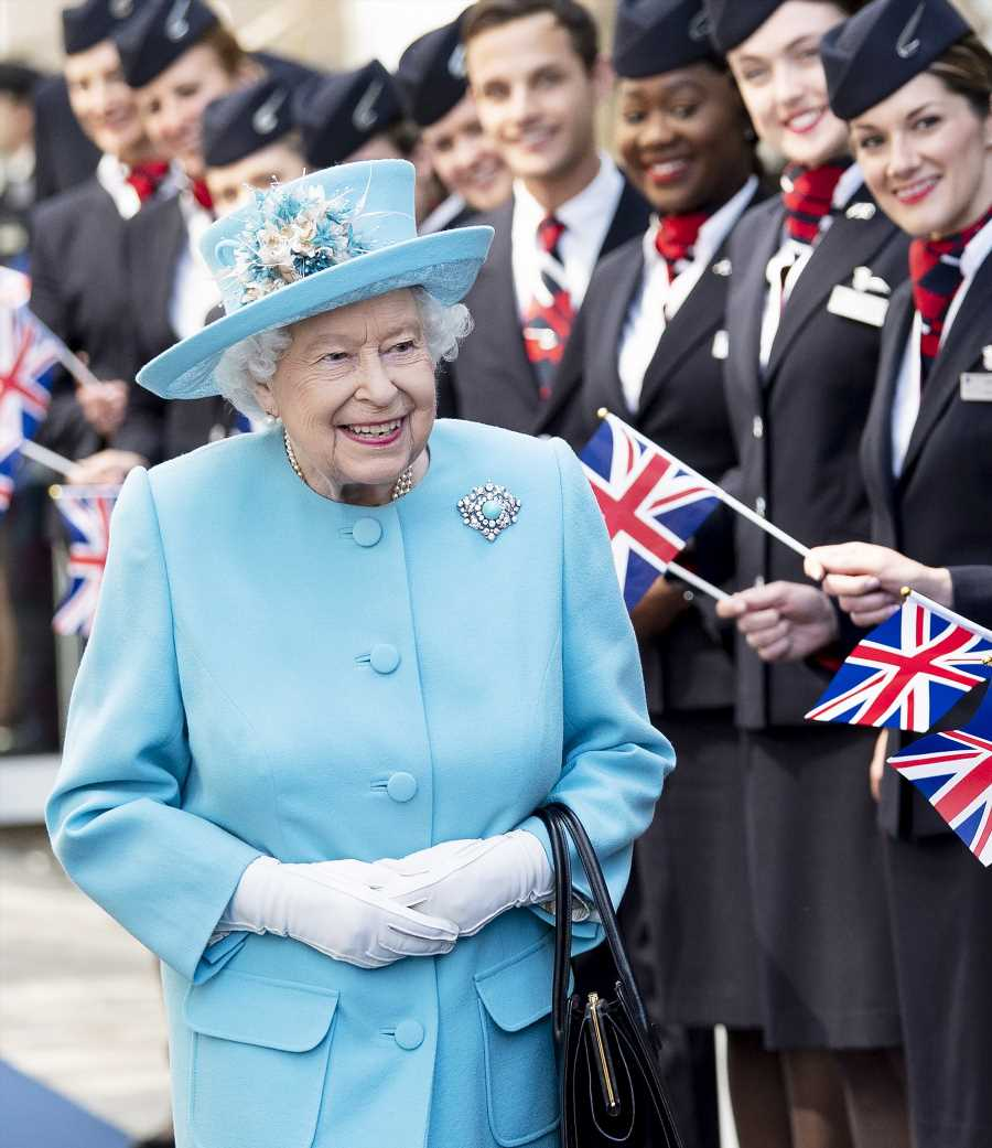 Queen Elizabeth, 93, Steps Out in Sky Blue for Her 4th Outing in 4 Days!