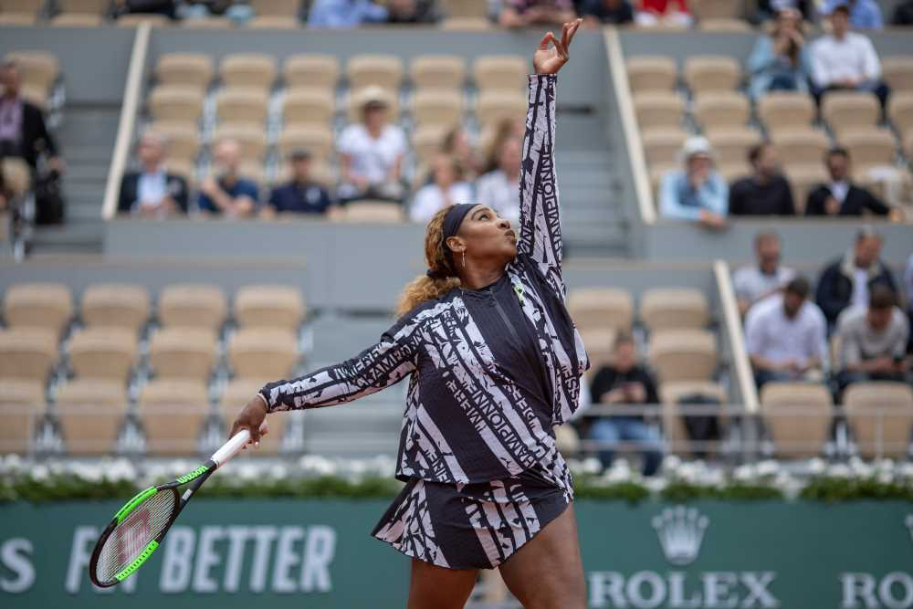 Serena Williams includes feminist messages in French Open outfit