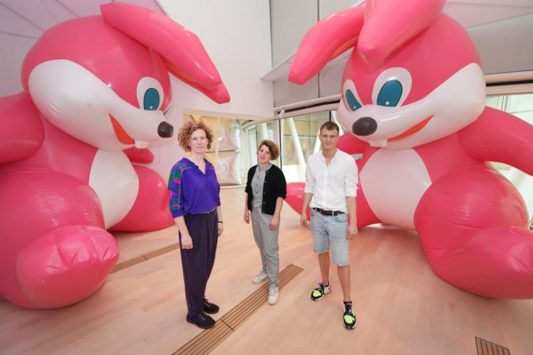 From monster rabbits to moon-bathing: inflatables on parade at the ArtScience Museum