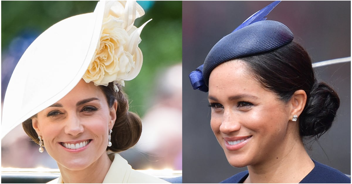 Meghan Markle and Kate Middleton Wore Matching Side Buns at Trooping the Colour 2019