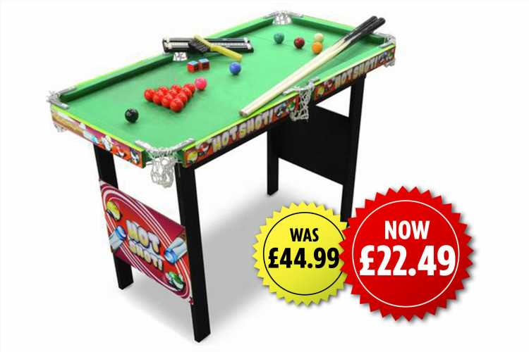 Argos is selling a mini snooker table and it's half price at £22.50 – The Sun