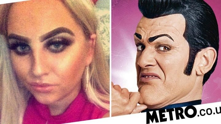 Woman left looking 'like Lazytown's Robbie Rotten' after eyebrow tint goes wrong