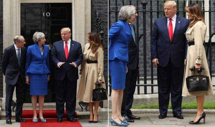 Melania Trump wears understated camel coat as she meets Theresa May in Downing Street