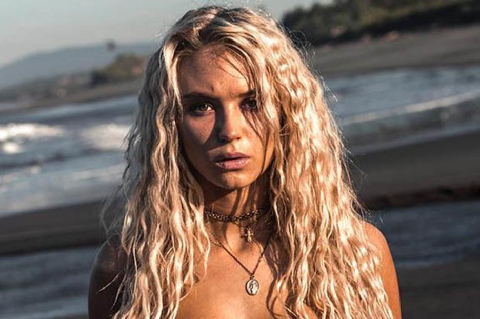 Love Island's Lucie Donlan strips topless as she straddles motorbike in jaw-dropping shoot