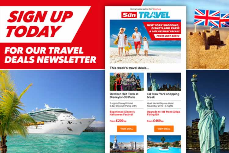 Get the best travel deals and offers straight to your inbox with our weekly newsletter