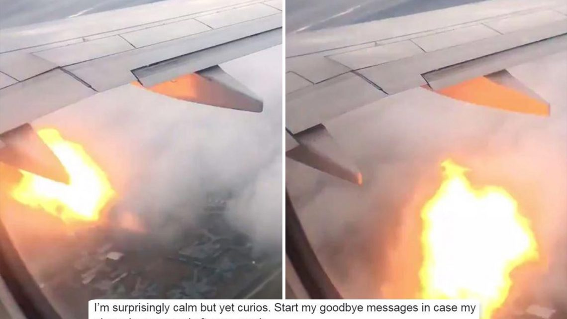 Terrified passengers write 'goodbye messages' after plane engine catches on fire forcing emergency landing – The Sun