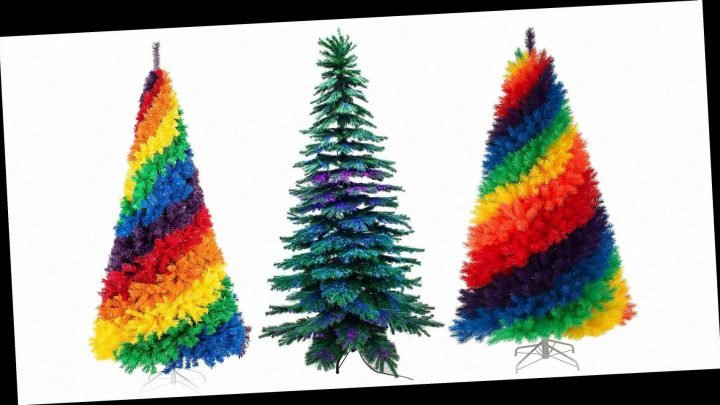 Rainbow Christmas Trees Are Going to Be Everywhere This Year — Here's Where to Buy Them