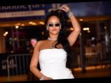 May We All Embody the Spirit of Rihanna Feeling Herself in This White Strapless Dress