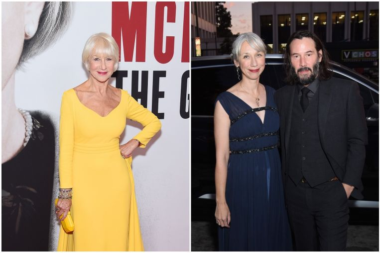 Actress Helen Mirren 'flattered' by comparison with Keanu Reeves' girlfriend