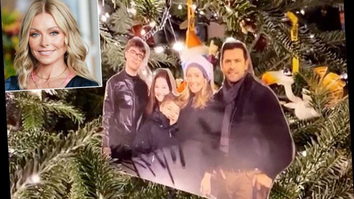 Kelly Ripa Shares Video of Her Christmas Tree Decorated with Pictures of Her Entire Family