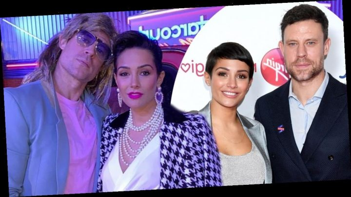 Frankie Bridge and her husband Wayne transform into 1980s characters to celebrate her birthday