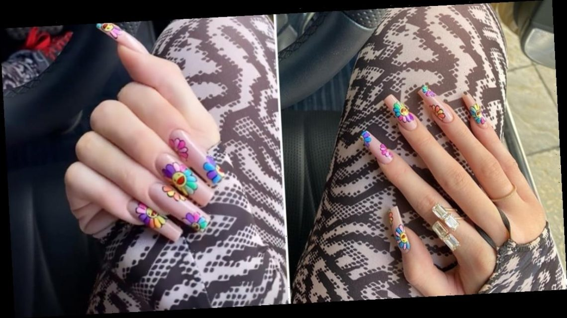 Kylie Jenner's Latest Hand-Painted Manicure Is a Work of Art — Literally