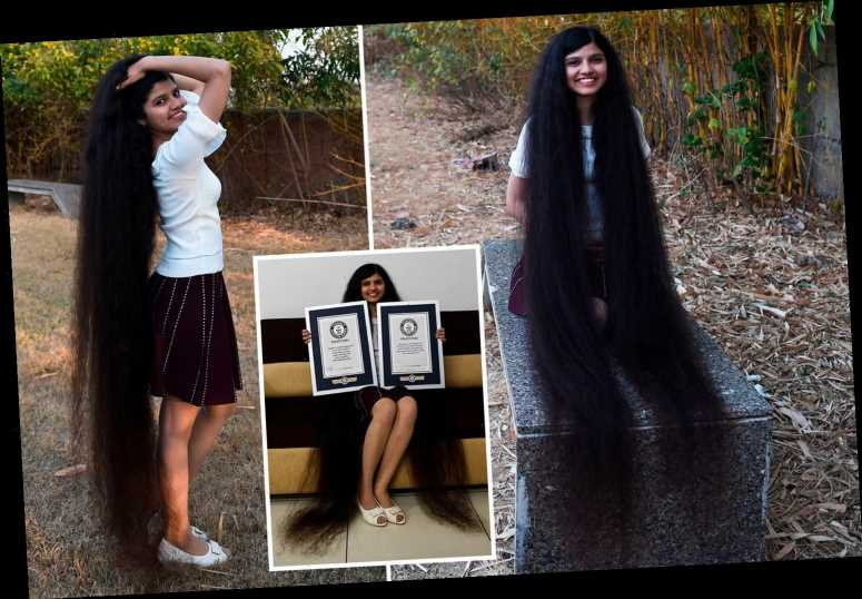Woman with the world's longest hair says 6ft 2in mane takes an HOUR to comb – and is longer than she is tall