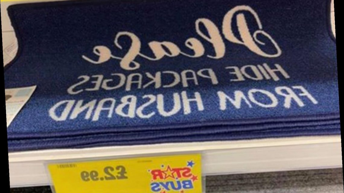 Home Bargains is selling a £2.99 doormat that will help you hide deliveries from your other half