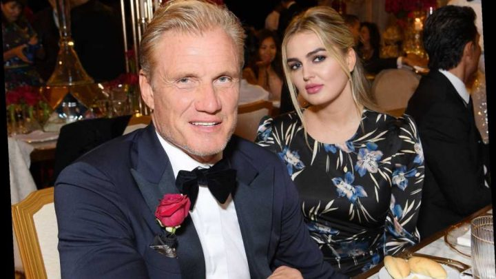 Dolph Lundgren looks cozy with personal trainer Emma Krokdal
