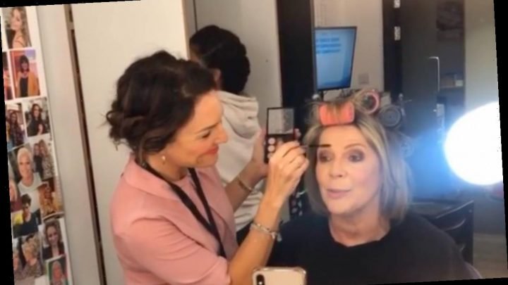 Loose Women star Ruth Langsford shares photo inside her dressing room as she gets glam makeover