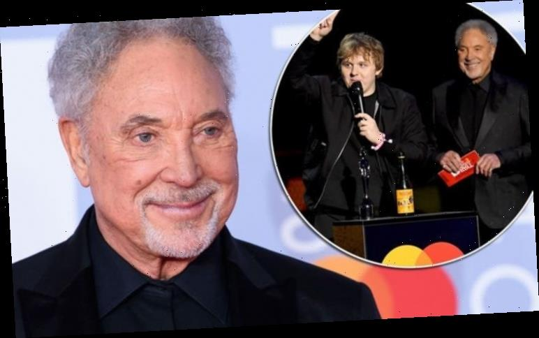 Tom Jones: 'Not sure' The Voice star addresses BRITs 2020 moment with winner Lewis Capaldi