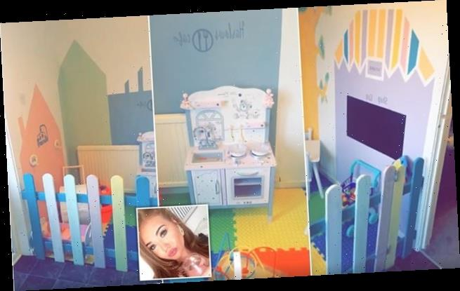 Mother creates soft play area for daughter in her kitchen