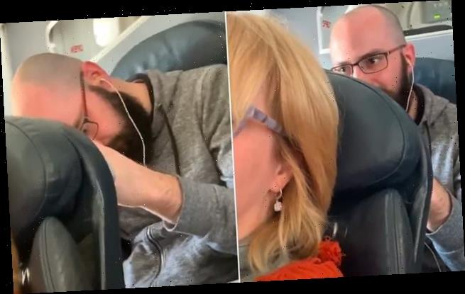 Passenger shames traveller who punched her seat when she reclined