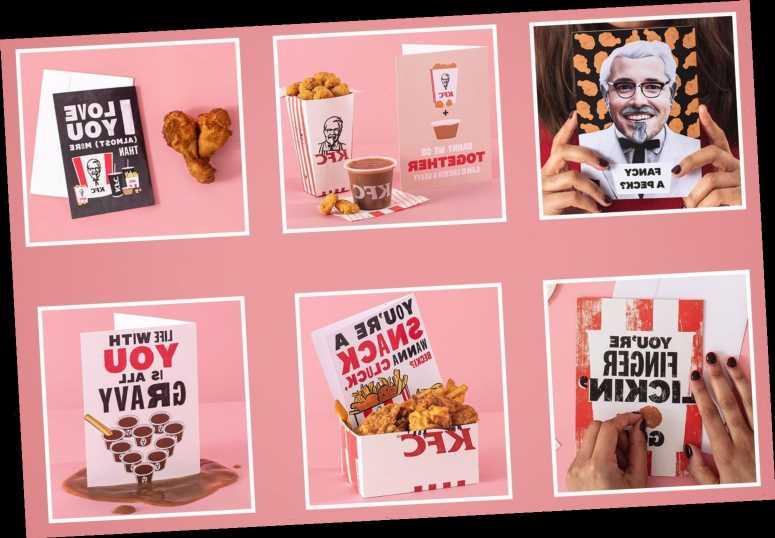 Moonpig is selling KFC Valentine's Day cards – and one of them smells like fried chicken