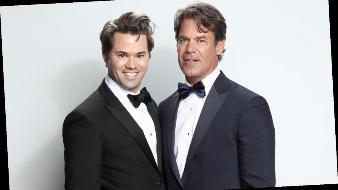 Andrew Rannells & Tuc Watkins Couple Up at Elton John's Oscars Party 2020!