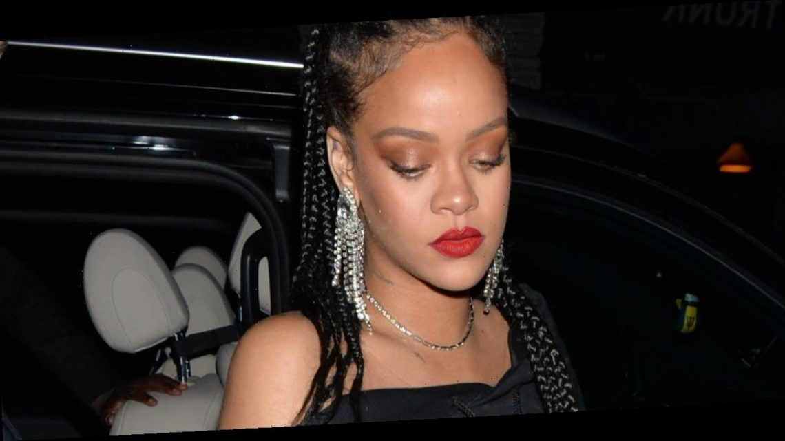 Rihanna paired a $580 oversized sweatshirt with diamonds and pumps for a night out in London