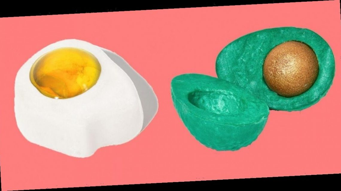 Lush is selling bath products that look like avocados and sunny-side-up eggs for Easter