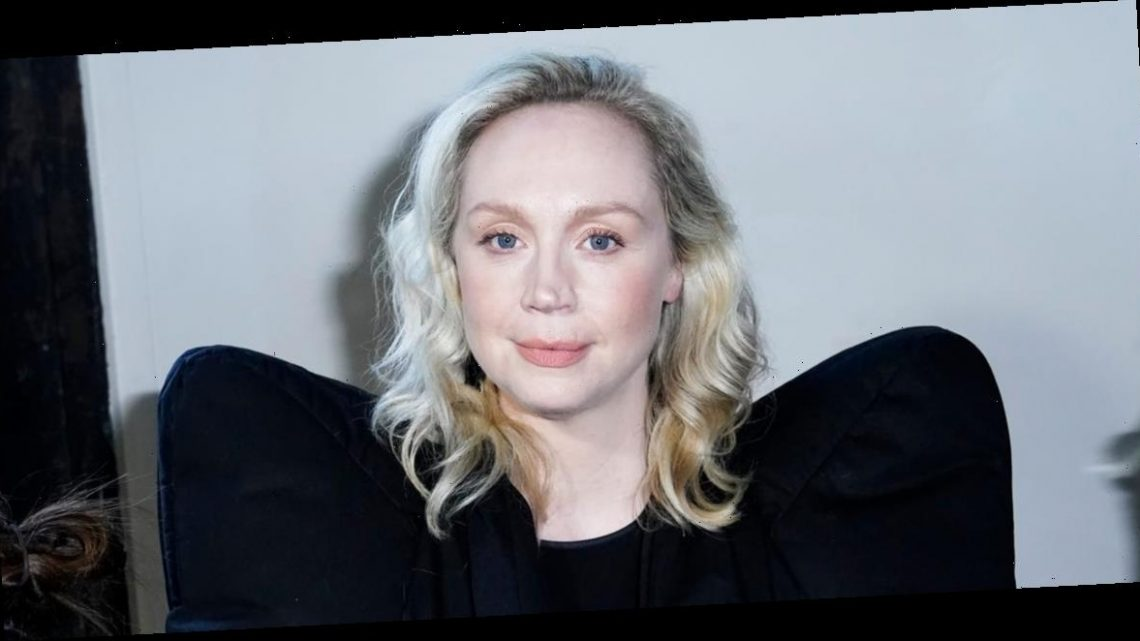 'Game of Thrones' star Gwendoline Christie put a chic spin on an '80s trend in a jacket with high shoulder pads