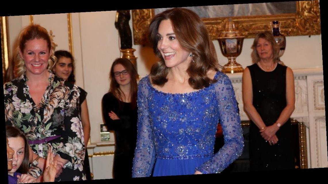 Kate Middleton recycles stunning blue Jenny Packham gown from 2016 in latest royal engagement