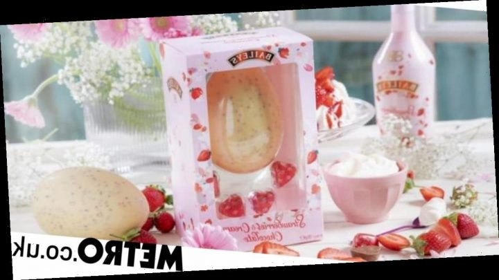 Forget your troubles and indulge with Baileys' strawberries and cream Easter egg