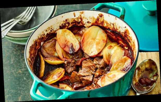 A comforting Irish beef and baby beetroot hotpot recipe from chef Terry Edwards
