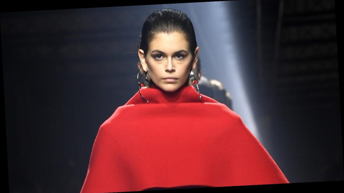 Kaia Gerber Looks Ravishing in Red Walking in Givenchy Fashion Show