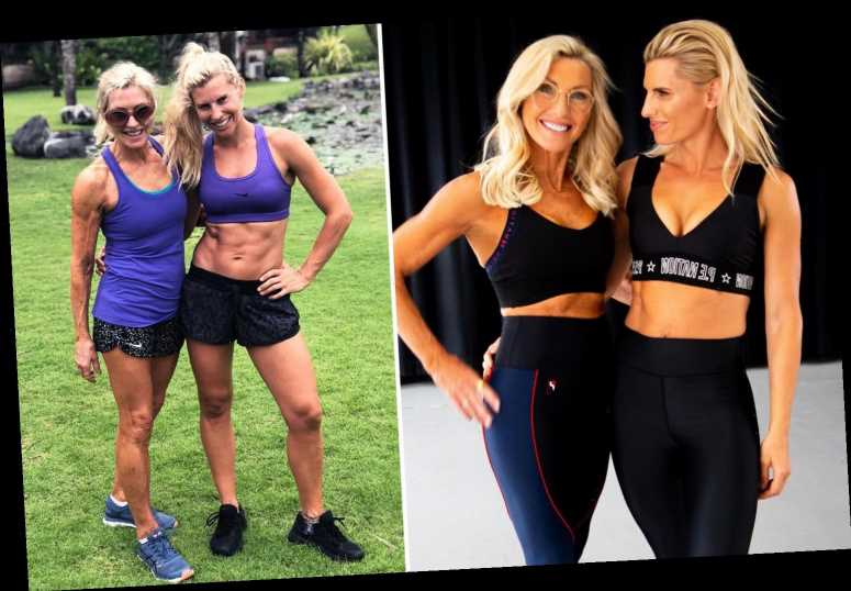Fitness instructor, 35, poses for photo with her glam mum, 64, – and people can't tell who is who