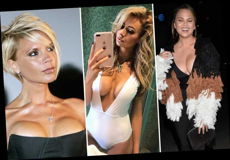 From Chrissy Teigen to Victoria Beckham's 'bazooka' regret – the stars who've had their boob implants removed