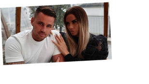 Katie Price shares dramatic photo of broken feet as she gushes over boyfriend Carl Woods