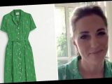 Kate Middleton wows in gorgeous green tennis print dress as she chats to Andy Murray – here's where to get it