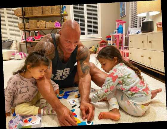 Celebs at Home: Dwayne 'The Rock' Johnson Gets Creative with His Daughters and More
