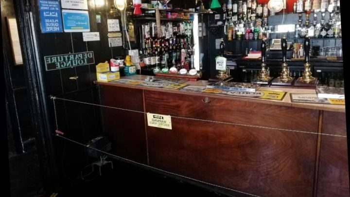 UK pub installs electric fence at bar to ensure social distancing