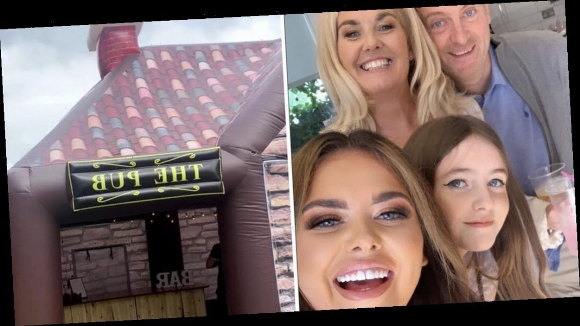 Scarlett Moffatt throws mum Betty an incredible surprise 50th birthday party with inflatable pub and silent disco