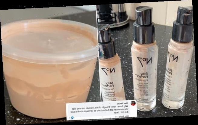 Beauty fan shares hack for reaching remnants of  foundation bottle