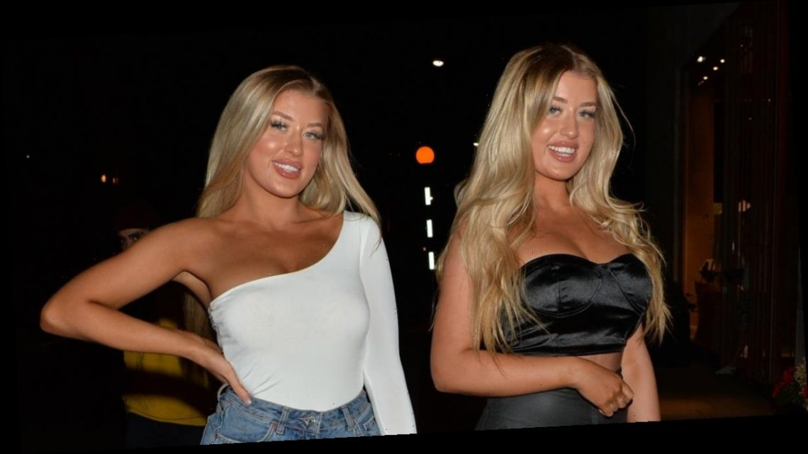 Love Island twins Jess and Eve Gale sizzle in tiny outfits for night out with other islanders