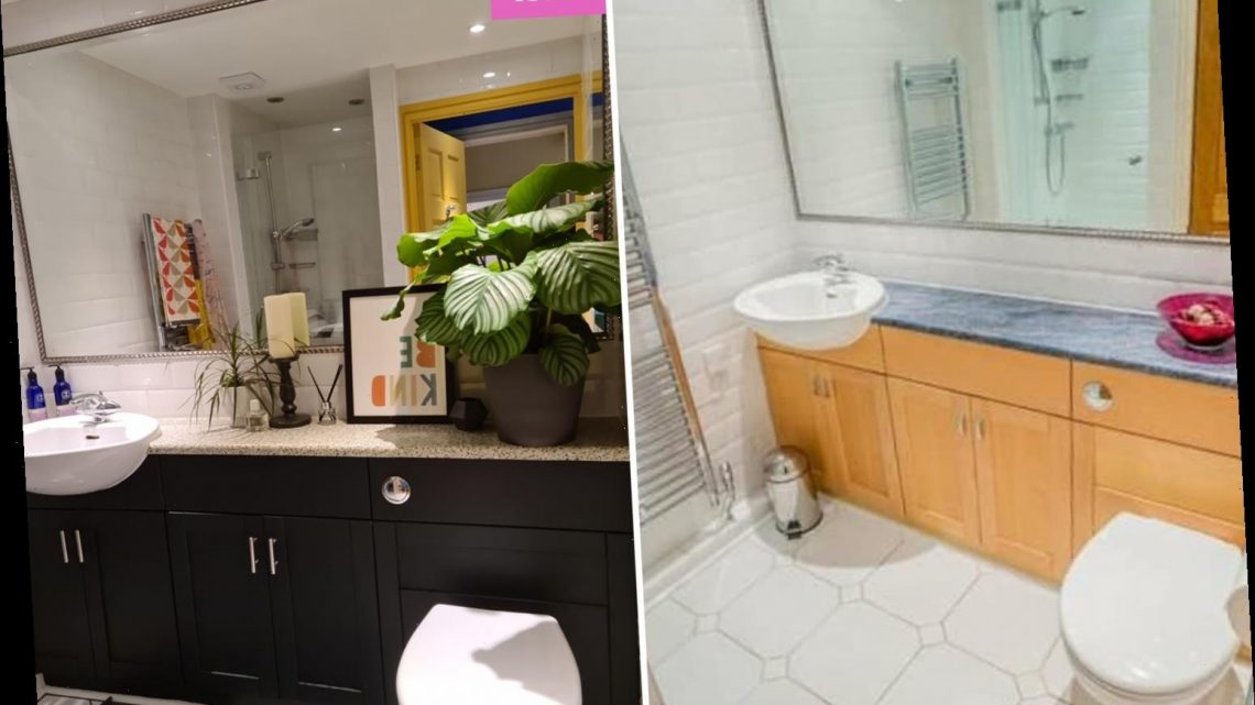 Woman quoted £4k to update her tired bathroom does it herself for just £45 and her secret was a £3.99 Amazon buy