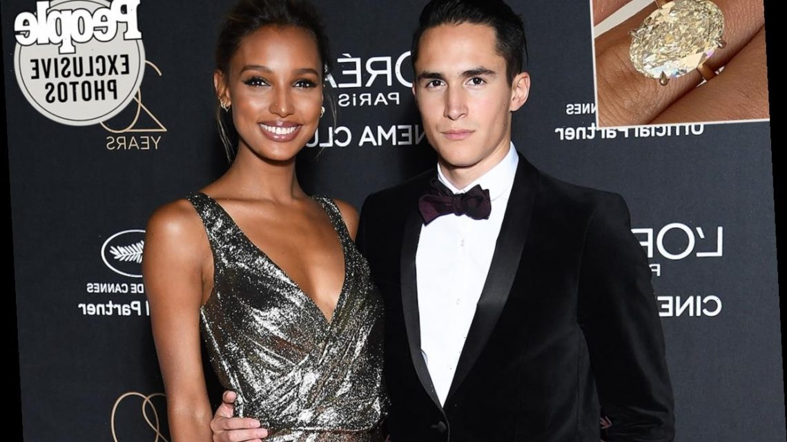 Model Jasmine Tookes Is Engaged! See Exclusive Images of Her Enormous, 7-Carat Ring