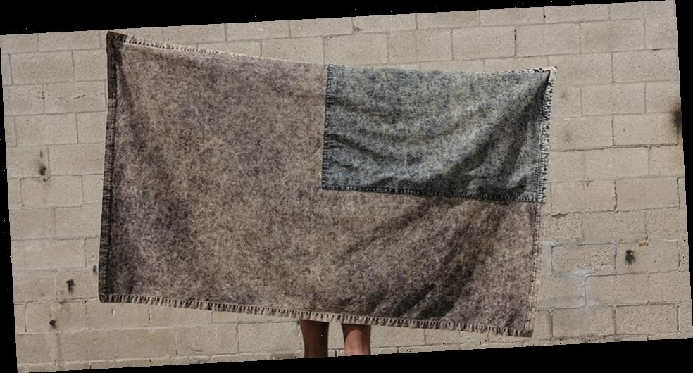 """S.R. STUDIO. LA. CA.'s """"VEIL FLAG"""" Is Part Wall Hanging, Part Shawl, and Completely Charitable"""