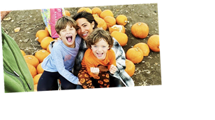 Inside Frankie Bridge's family day out to the pumpkin patch with husband Wayne and their sons