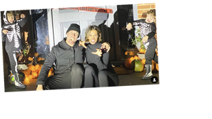 Frankie Bridge shows off epic Halloween decorations as she gives family home a big spooky makeover